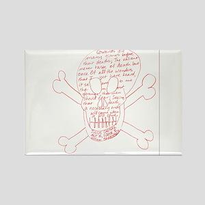 Julius Caesar Skull Red Magnets