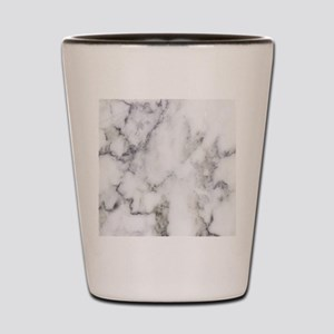 Trendy white and gray marble texture pr Shot Glass