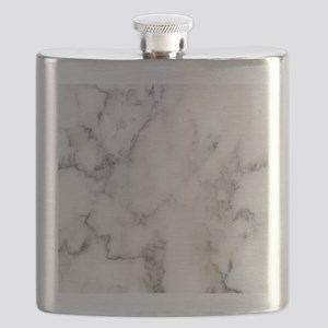 Trendy white and gray marble texture print Flask