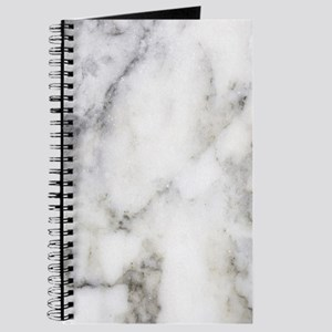 Trendy white and gray marble texture print Journal