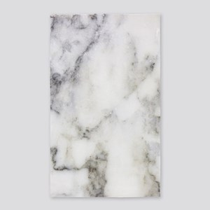 Trendy white and gray marble texture prin Area Rug