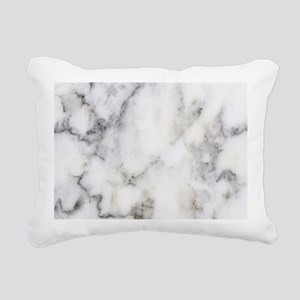 Trendy white and gray ma Rectangular Canvas Pillow