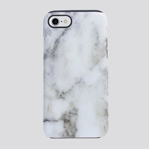Trendy white and gray marble t iPhone 7 Tough Case