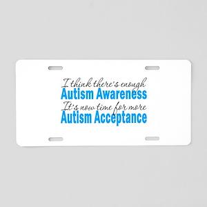 TimeForAcceptance Aluminum License Plate