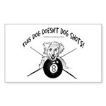 Pool Playing Dog Doesnt Sticker (Rectangle 50 pk)