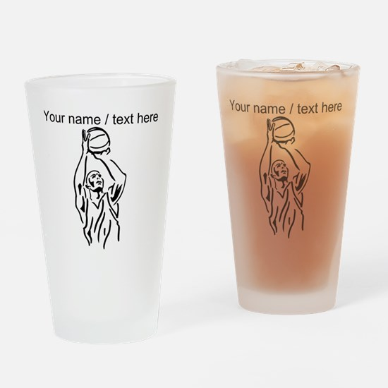 Custom Basketball Player Drinking Glass