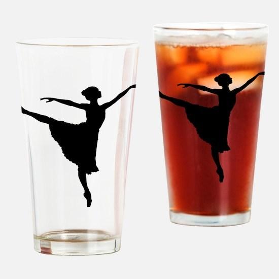 Cute Girls ballet Drinking Glass