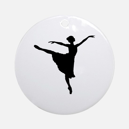 Cute Pointe shoes Round Ornament