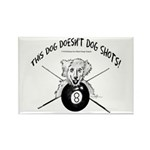 Pool Playing Dog Doesn Rectangle Magnet (100 pack)