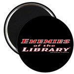 """Enemies of the Library 2.25"""" Magnet (10 pack)"""