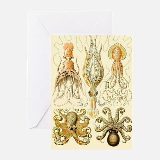 Vintage Octopus, Octopi Greeting Card