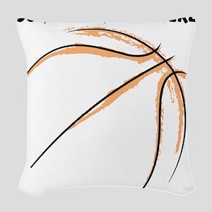 Custom Orange Basketball Drawing Woven Throw Pillo