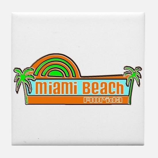 Miami Beach, Florida Tile Coaster