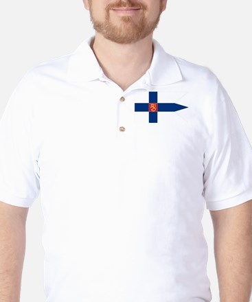 Naval Ensign of Finland Golf Shirt