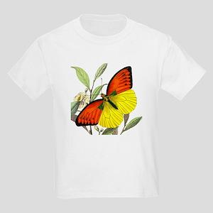 WILD ORANGE BUTTERFLY Kids T-Shirt