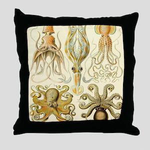 Vintage Octopus, Octopi Throw Pillow