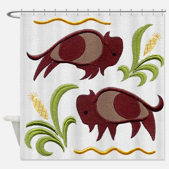 2 Buffalo Shower Curtain