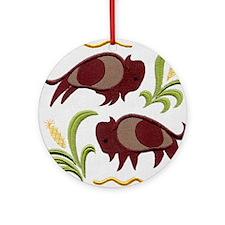 2 Buffalo Ornament (Round)