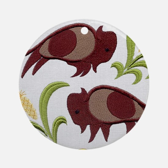 2 Buffalo Ornament (Round)