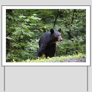 Smoky Mountain Black Bear Yard Sign