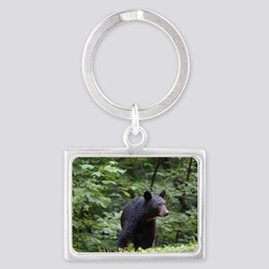 Smoky Mountain Black Bear Landscape Keychain