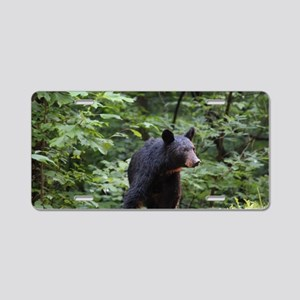 Smoky Mountain Black Bear Aluminum License Plate