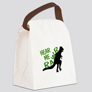 Dinosaur Hear Me Rawr Canvas Lunch Bag