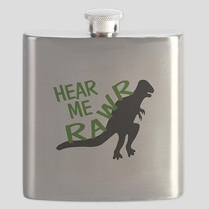 Dinosaur Hear Me Rawr Flask