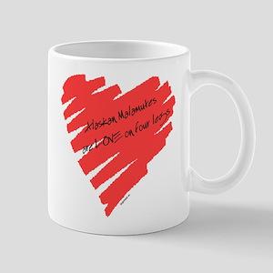 Akita Love on 4 Legs Mug