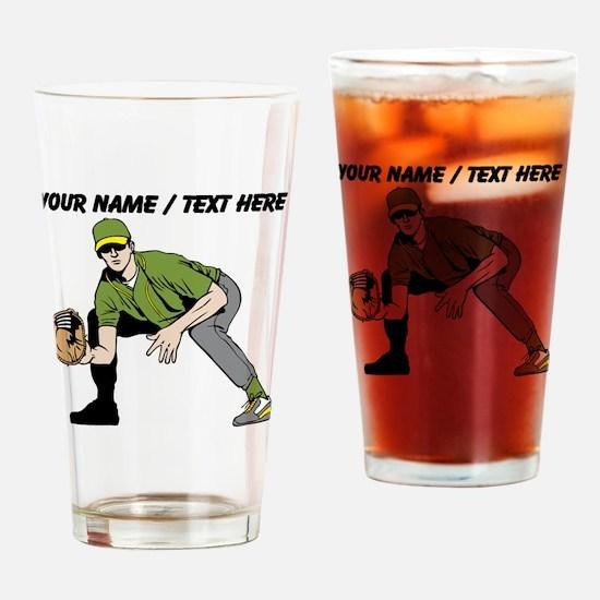 Custom First Baseman Drinking Glass