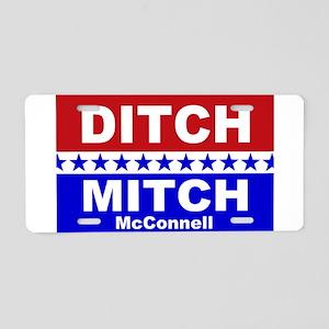 Ditch Mitch Aluminum License Plate