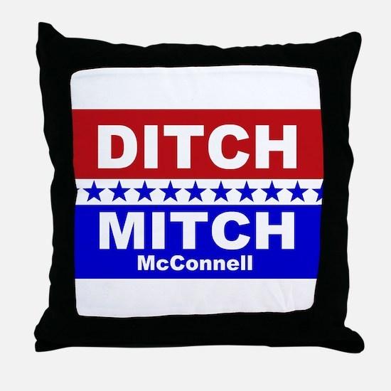 Ditch Mitch Throw Pillow