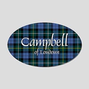 Tartan - Campbell of Loudoun 20x12 Oval Wall Decal
