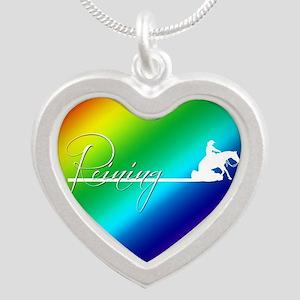 Rainbow reiner Silver Heart Necklace
