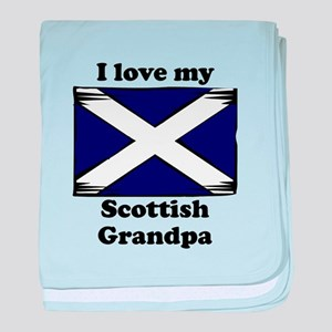 I Love My Scottish Grandpa baby blanket