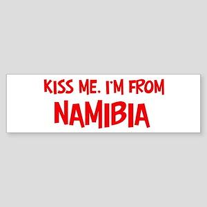 Kiss me Namibia Bumper Sticker