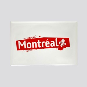 'Montreal' Rectangle Magnet