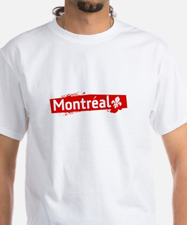 'Montreal' White T-Shirt