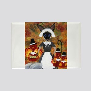 Siamese Queen of Thanksgiving Magnets