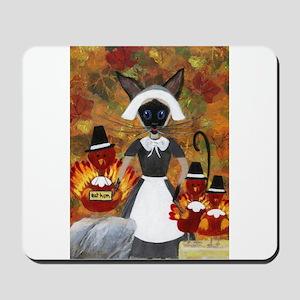 Siamese Queen of Thanksgiving Mousepad