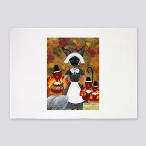 Siamese Queen of Thanksgiving 5'x7'Area Rug