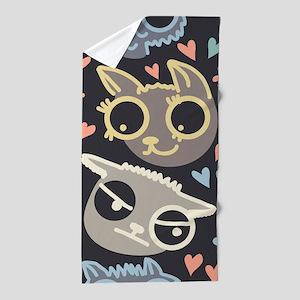 Crazy Cats Beach Towel