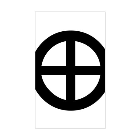 Planet Earth Symbol Rectangle Sticker