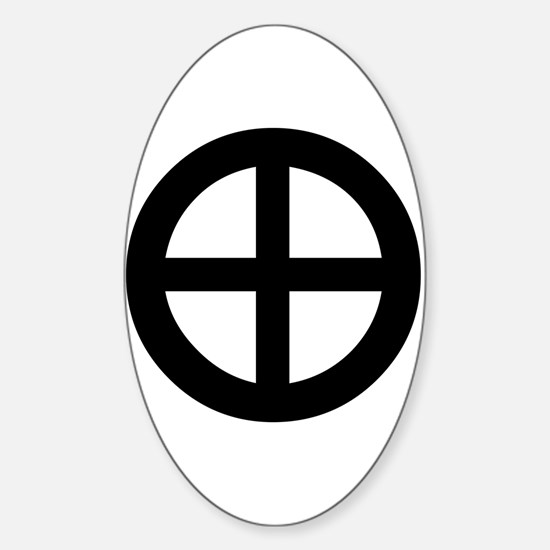 Planet Earth Symbol Oval Decal