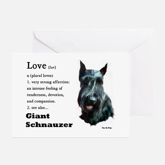 Giant Schnauzer Love Greeting Cards (Pk of 10)