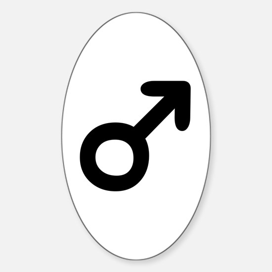 Mars Astrological Symbol Oval Decal