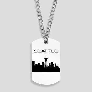 Seattle Skyline Dog Tags