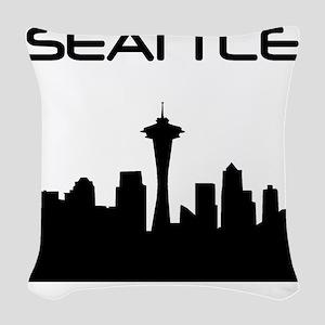 Seattle Skyline Woven Throw Pillow