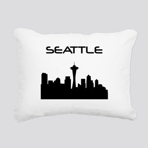 Seattle Skyline Rectangular Canvas Pillow