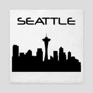 Seattle Skyline Queen Duvet